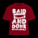 "Said And Done – ""Remember?"" design – brick red SHIRT"