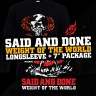 "Said And Done ""Weight Of The World"" EP + longsleeve package"