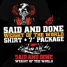 "Said And Done ""Weight Of The World"" EP + shirt package"